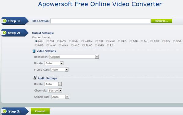 online mp4 to avi converter